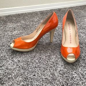 Size 7 sacha London peep toe heels